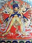 Mongolian Kalachakra thangka painting