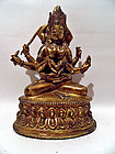 Tibetan bronze statue of Namasangiti