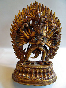 Bronze statue of Chakrasamvara and Vajravarahi