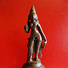 Small bronze Indian statue of Parvati