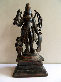 Indian bronze statue of Virabhadra