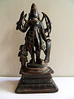 Indian bronze statue of Virabhadra