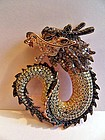 Gold with rhodium dragon pendant with 4.5 ct. diamonds