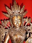 Sino-Tibetan bronze statue of White Tara (Drolma Karpo)
