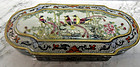 Chinese porcelain box painted with paradise birds