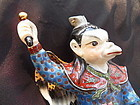 Chinese porcelain statue of Lei Gong the Thunder God