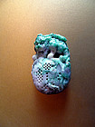 Chinese jadeite toggle - Pixiu on his treasure bag