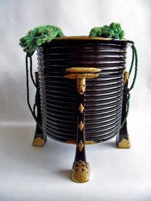 A pair of black lacquer Hokai shell boxes - Edo period