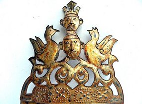 Traditional gold head ornament from the Moluccas