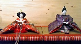Japanese dolls - Emperor and Empress