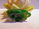 Natural green jadeite carving - fish pendant