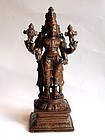 Antique Indian bronze Vishnu statue