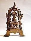 Indian Jain Parsvanatha bronze temple statue
