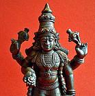 Indian bronze Vishnu statue