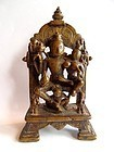 Bronze Vishnu and Lakshmi statue - India