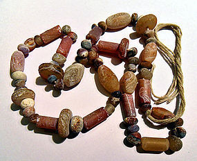 String of ancient agate beads