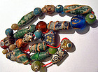 String of ancient mainly glass Pyu beads