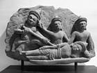 Khmer sandstone relief
