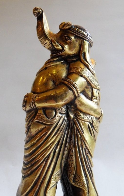 Fire gilt bronze image of the dual, embracing Kangiten