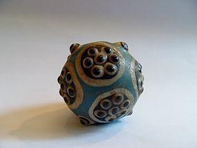 Large Chinese Warring States stratified eye bead