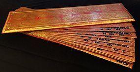 Burmese lacquered and gilded Kammavaca manuscript