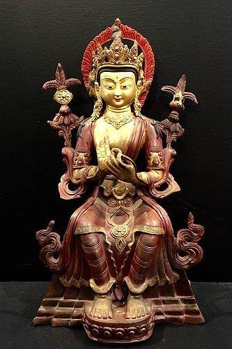 Bronze figure of Maitreya - Tibet