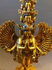 Fire gilt bronze statue of the eleven headed Avalokiteshvara