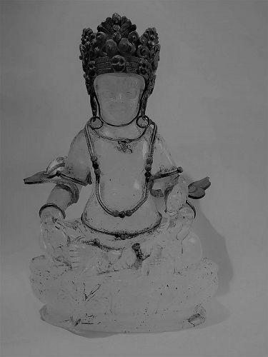 Rock crystal statue of Jambhala