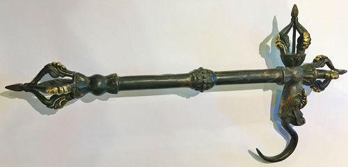 Bronze Tibetan ritual instrument - Ankusha