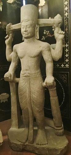 Sandstone statue of Vishnu
