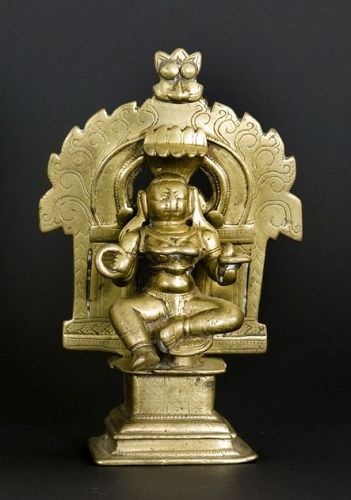 Southern Indian bronze figure of Parvati