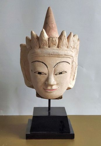 Stucco Burmese Buddha head