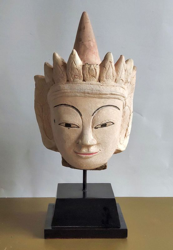 Stucco Burmese Buddha head
