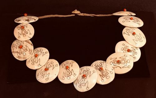 Nagaland engraved shell pieces
