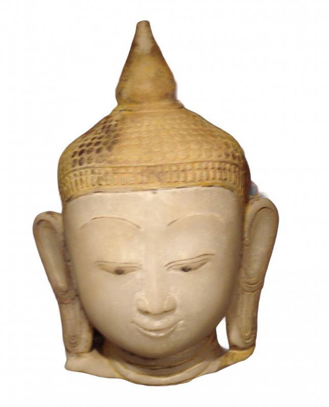 Burmese alabaster Buddha head