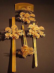 Japanese Geisha Amber hair-set