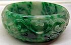 Burmese carved jade bracelet