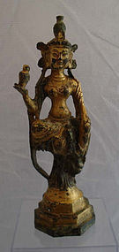 Chinese bronze Guanyin statue - Ming dynasty