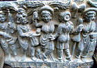 The birth of the Buddha, stone panel