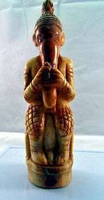 Carved Ganesha charm amulet