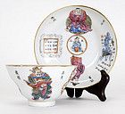Chinese Porcelain Cup & Saucer, Xianfeng Mark.