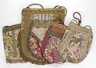 Collection of Five 18th / 19th C. Silk Brocade Bags.