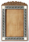 Anglo Indian Sandalwood Photo Frame with Sadeli.