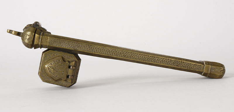 Islamic Divit Brass Scribes Pen Case, 19th C.