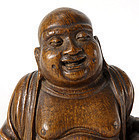 Antique Chinese Carved Bamboo Budai, 18th /19th C.
