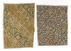 Two Persian Embroidered Trouser Cuff Panels, 19th C