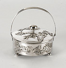 Chinese Export Silver Jam Jar - Sing Fat, early 20th C.