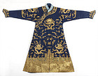 Chinese Embroidered Summer Dragon Robe, late Qing.