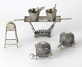 Assorted Lot of Chinese Export Silver, c. 1900.