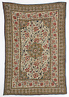 Antique Indian Kalamkari Quilted Textile Panel, 19th C.